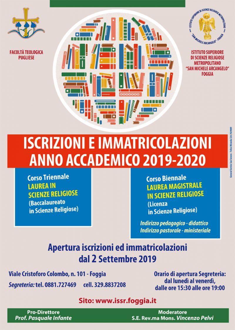 Calendario Pastorale 2020.Immatricolazioni Ed Iscrizioni A A 2019 2020 Istituto